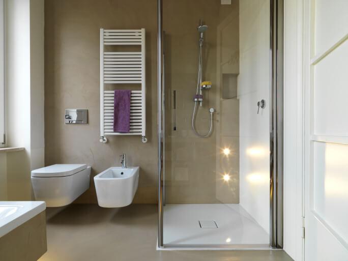 bagno moderno in microcemento