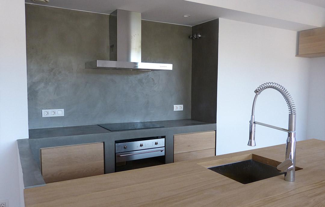 Microcemento cucina pavimento cemento cucina - Pavimento de microcemento ...