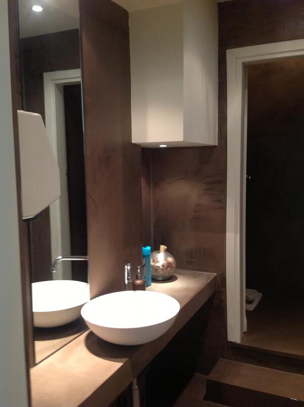 microcemento nel bagno