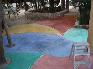 cemento colorato fuori