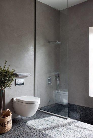 microcemento parete bagno